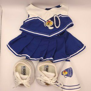 Build-A-Bear Cheerleader Blue & White Outfit Megaphone Skechers Shoes BAB